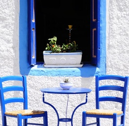 Blue Cafe in Greece