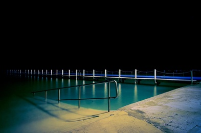 Narrabeen Pool by Night
