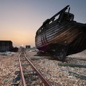 Old Fishing Boat on Dungeness Beach