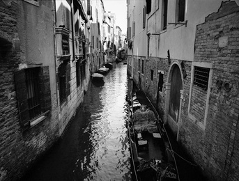 Canal With Gondola