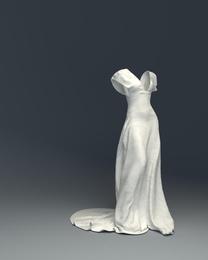 WHITE DRESS in Blue