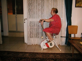 Mom on Bicycle