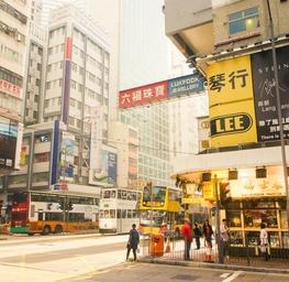 Wanchai Street in Hong Kong