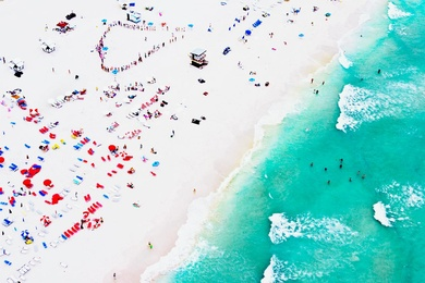 South Beach Aerial, Swimming