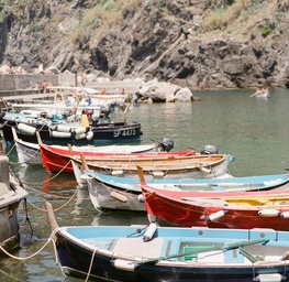 Boats in Vernazza, Italy