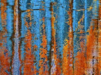 Silky Rust & Blue