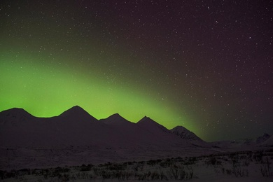 Aurora and a Toothed Range