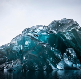 Flipped Iceberg in Antarctica 1
