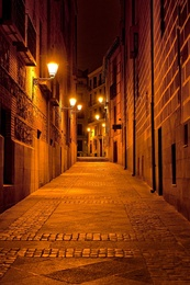 Narrow Alley, Madrid, Spain