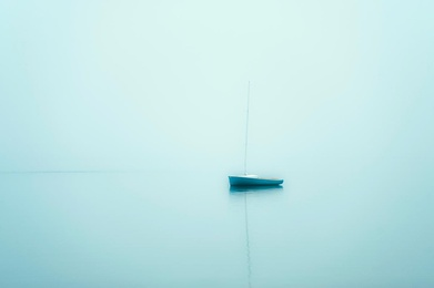Sailboat in Mist