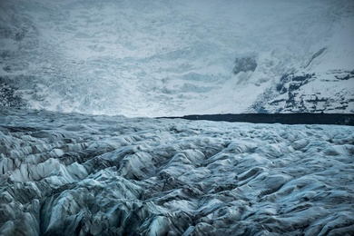 The Ice Falls of Svinafellsjökull