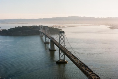 Bay Bridge at Sunrise in San Francisco