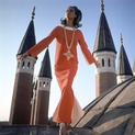 Orange Christian Dior Dress