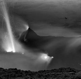 Eruption at Night