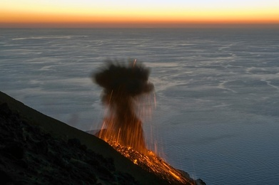 Volcano at Sunset