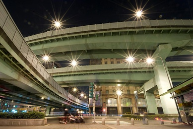 Moped and Overpass