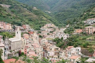 Cityscape of Manarola, Italy