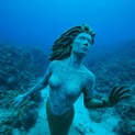 Underwater Mermaid Sculpture