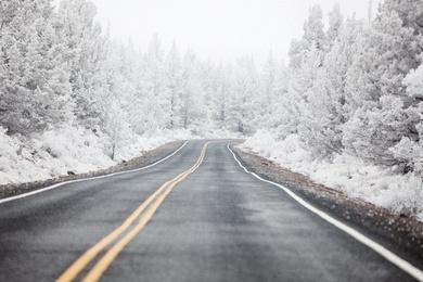 Winter Road Bend, Oregon