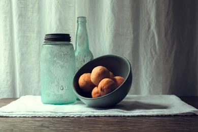 Cyan Bottles and Citrus