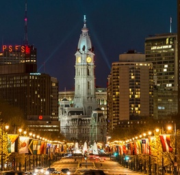 Franklin Parkway and City Hall, Philadelphia