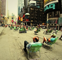 Relaxing at Times Square 3