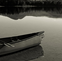 Canoe on Lac Chat, Quebec