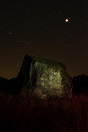 The Erratic Boulder and the Blood Moon