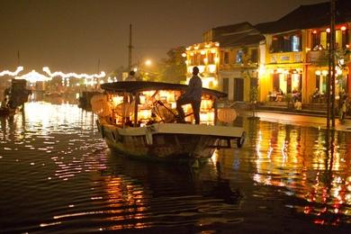 Nighttime Boating, Hoi An, Vietnam