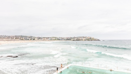 Swimmers by the Sea - Sydney