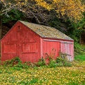 Colorful Farm Building, Vermont