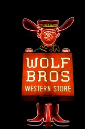 Wolf Bros Western Store, Night