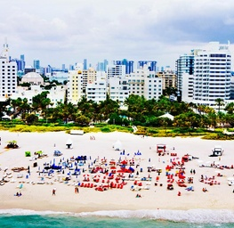 South Beach Aerial, Cityscape