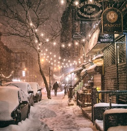 New York City - Snow - Janus - East Village Lights