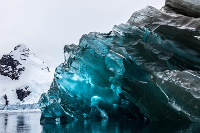 Flipped Iceberg in Antarctica 2