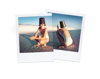 Anna With Bucket, White Sands 1997