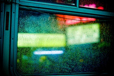 Neon Rain Drops