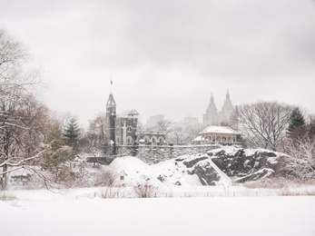 Central Park Winter - Belvedere Castle in the Snow - New York City