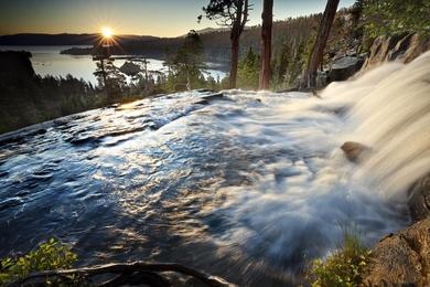 Sunburst Over Eagle Falls - Emerald Bay