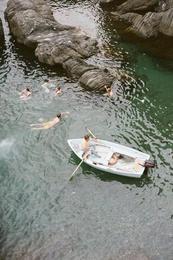 Boat in Manarola, Italy