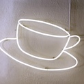 Neon Coffee Cup