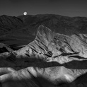 Sunrise & Moonset - Zabriskie Point
