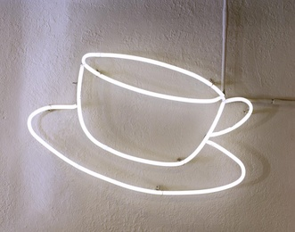 Neon Coffee Cup