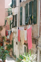 Clothes Line in Italy