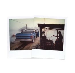 Chevy on Ferry in Panajachel, Guatemala 1979
