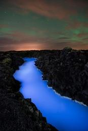 Blue Lagoon and Green Skies