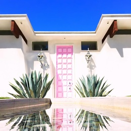 The Real Pink Door of Palm Springs