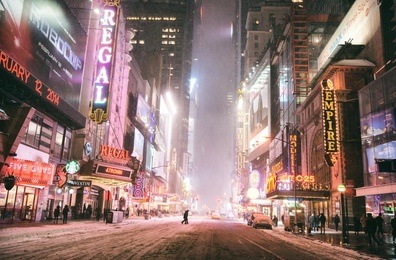 New York City - Snow - Hercules - Times Square
