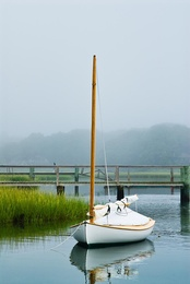 Anchored Sailboat, Cape Cod