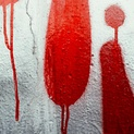 Red and Silver Graffiti Drip